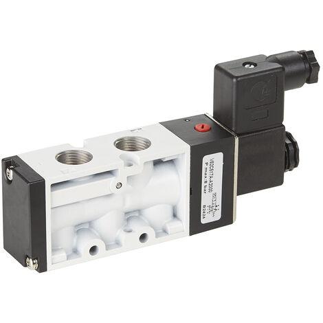 Électrovannes pneumatiques RS PRO, fonction 5/2 Montage Montage libre G 1/8, Bobine/Ressort, 24V cc