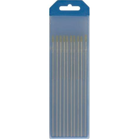 ELECT.TUNGSTENO 1,6MM ACERO/INOX/ALU (GOLD) PACK 10 UNID.