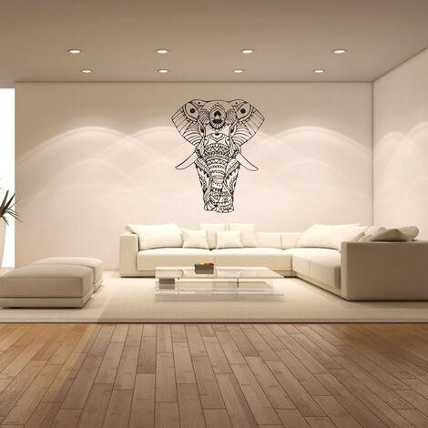 Elefante Adhesivos de pared Dormitorio Indio Yoga Vinilo Adhesivo Calcomanía Decoración para el hogar Pegatinas Hasaki