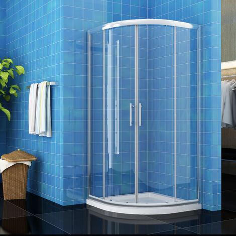 ELEGANT 1000 x 1000 mm Quadrant Shower Cubicle Enclosure Sliding Door 6mm Easy Clean Glass