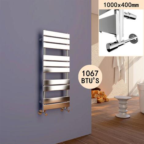 ELEGANT 1000 x 400 Modern Flat Panel Heated Towel Rail Radiator
