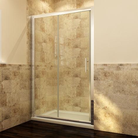 ELEGANT 1000mm Sliding Shower Cubicle Enclosure Door Modern Bathroom screen glass
