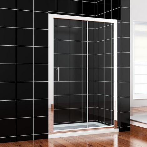 ELEGANT 1100mm Sliding Shower Cubicle Enclosure Door Modern Bathroom Screen Glass for Bath