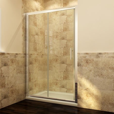 ELEGANT 1100mm Sliding Shower Cubicle Enclusure Door Modern Bathroom screen glass