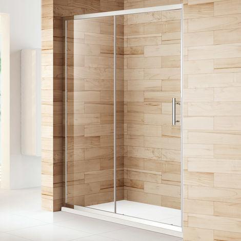 ELEGANT 1200mm Sliding Shower Cubicle Enclosure Door Modern Bathroom Screen Glass for Bath