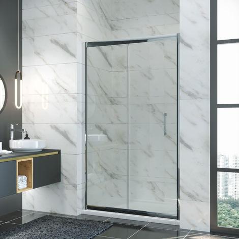 ELEGANT 1200mm Sliding Shower Door 8mm Easy Clean Glass Shower Door
