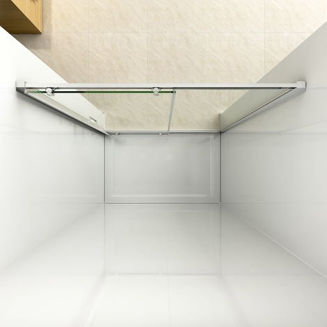 ELEGANT 1200mm Sliding Shower Door Modern Bathroom 8mm Easy Clean Glass Shower Enclosure Cubicle Door