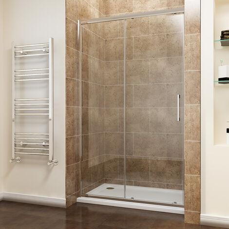 "main image of ""ELEGANT 1200mm Sliding Shower Door Modern Bathroom 8mm Easy Clean Glass Shower Enclosure Cubicle Door"""