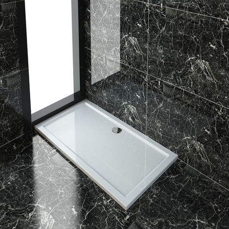 ELEGANT 1400 x 760 mm Rectangular Shower Tray for Shower Enclosure Cubicle + Waste Trap