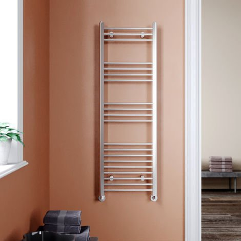 ELEGANT 1500 x 500mm Chrome Heated Towel Rail Designer Bathroom Radiator