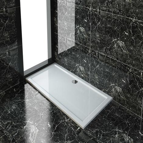 ELEGANT 1500 x 760 mm Stone Shower Tray for Shower Enclosure Cubicle + Waste Trap - Rectangular