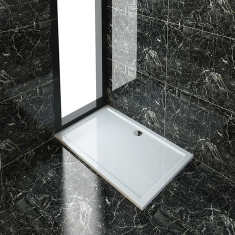 ELEGANT 1500 x 900 mm Rectangular Stone Shower Tray + Waste Trap