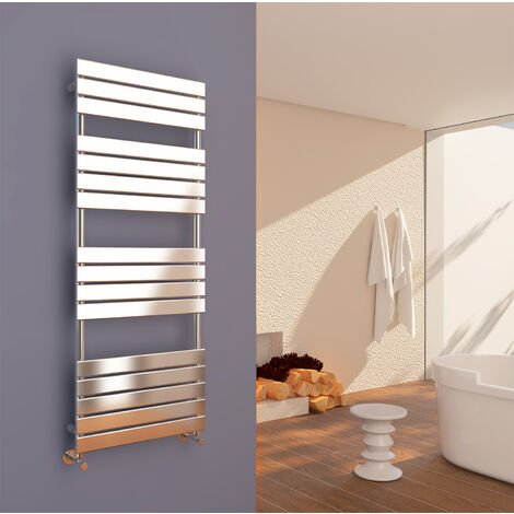 ELEGANT 1600 x 600mm Modern Chrome Heated Towel Rail Bathroom Designer Radiator