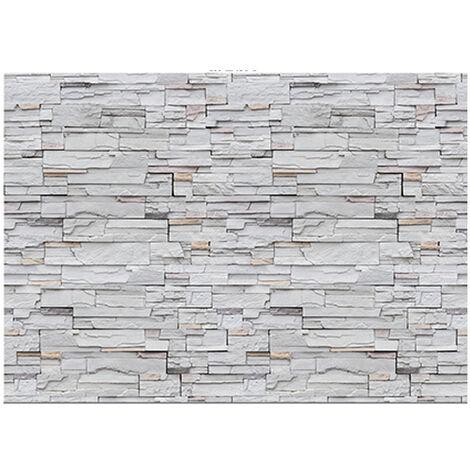Elegant 3D Waterproof DIY Stone Brick/Wood Pattern Wallpaper PVC Wallpaper Wall Sticker