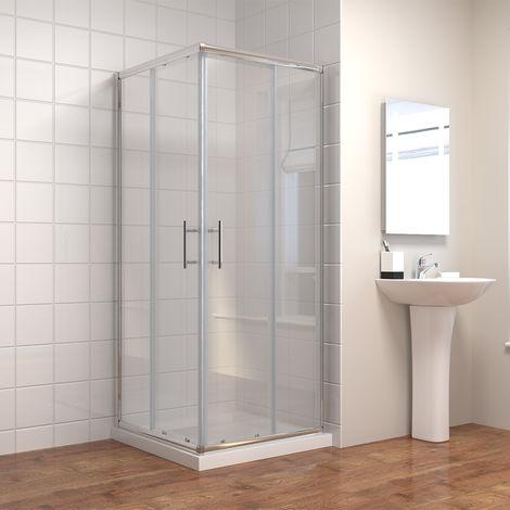 ELEGANT 760 x 700 mm Sliding Corner Entry Shower Enclosure Door Cubicle