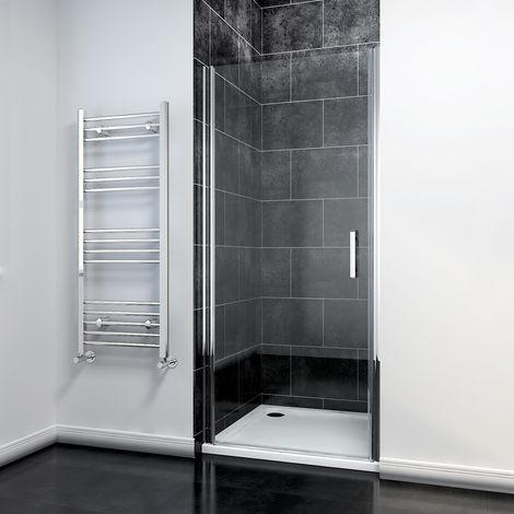 ELEGANT 760mm Pivot Shower Door Enclosure 6mm Safety Glass Reversible Shower Cubicle Door