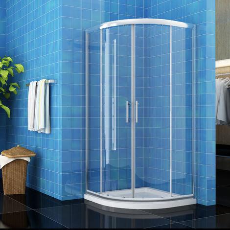 ELEGANT 800 x 800 mm Quadrant Shower Cubicle Enclosure Sliding Door 6mm Easy Clean Glass