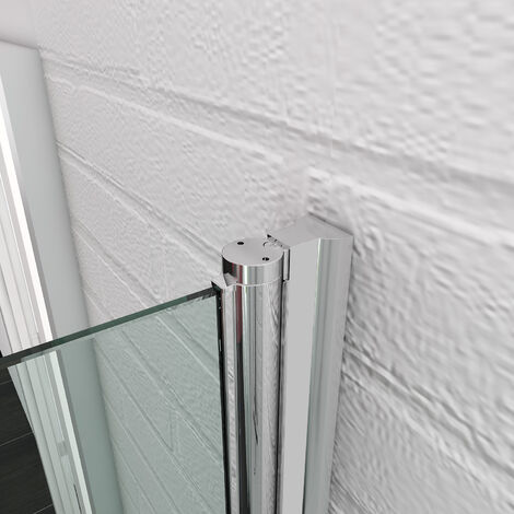 ELEGANT 800mm Bifold Shower Door Glass Shower Enclosure Reversible Folding Shower Door