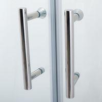 ELEGANT 900 x 760 mm Quadrant Shower Cubicle 6mm Glass Sliding door Shower Enclosure