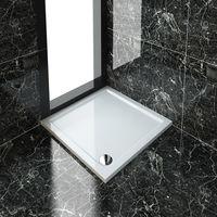 ELEGANT 900 x 900 x 40 mm Square Stone Tray + Waste Trap