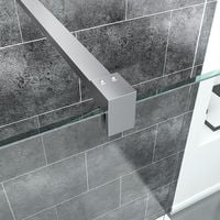 Quality 8mm EasyClean Glass Screen Walk In Wet Room Shower Enclosure Tray Waste