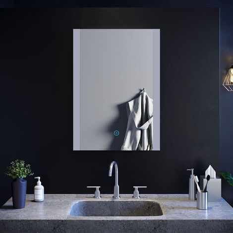 ELEGANT Bathroom Mirror Touch Sensor 500 x 700mm Vertical Illuminated LED Mirror with Light