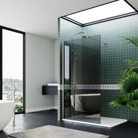 ELEGANT Bathroom Walkin Shower Door Wet Room Enclosure Screen 8mm Easy Clean Safety Glass Bath Panel