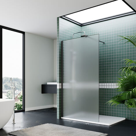 "main image of ""ELEGANT Bathroom Walkin Shower Door Wet Room Enclosure Screen 8mm Easy Clean Safety Glass Bath Panel"""