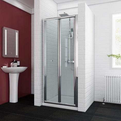 ELEGANT Bifold Shower Enclosure Reversible Folding Glass Shower Cubicle