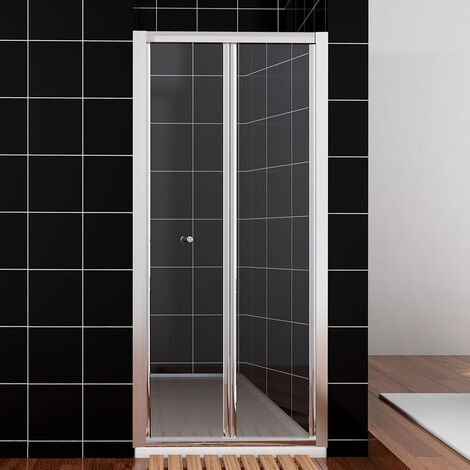 ELEGANT Bifold Shower Enclosure Reversible Folding Glass Shower Cubicle Door