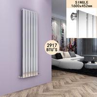 ELEGANT Chrome Vertical Radiator 1600 x 452 Single Flat Panel Central Heating Designer Radiators