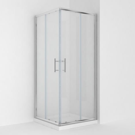 ELEGANT Corner Entry Shower Enclosure 900 x 900 mm Square Sliding Shower Enclosure