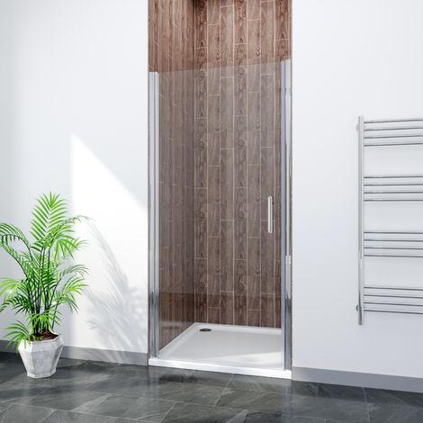 ELEGANT Frameless Pivot Shower Door Glass Screen Reversible Shower Enclosure