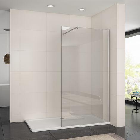 ELEGANT Frameless Wet Room 1200mm Shower Screen Panel 8mm Easy Clean Glass Walk in Shower Enclosure