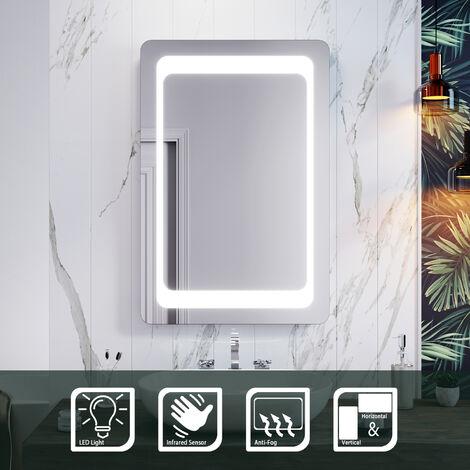 ELEGANT Frontlit LED Illuminated Bathroom Mirror with Light Sensor + Demister 900 x 600mm