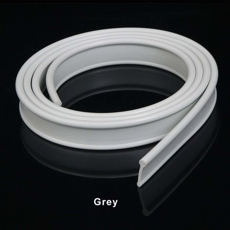 ELEGANT Grey Soft Rubber Shower Door Seal for Folding Bath Screen 1200mm