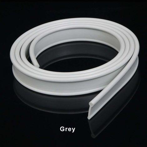 ELEGANT Grey Soft Rubber Shower Door Seal for Folding Bath Screen 1200mm