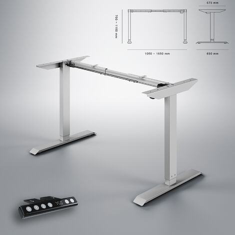 ELEGANT Height Adjustable Electric Standing Desk Frame Two-Stage with Heavy Duty Steel Sit Stand Desk, Computer Desk with Memory Smart Panel