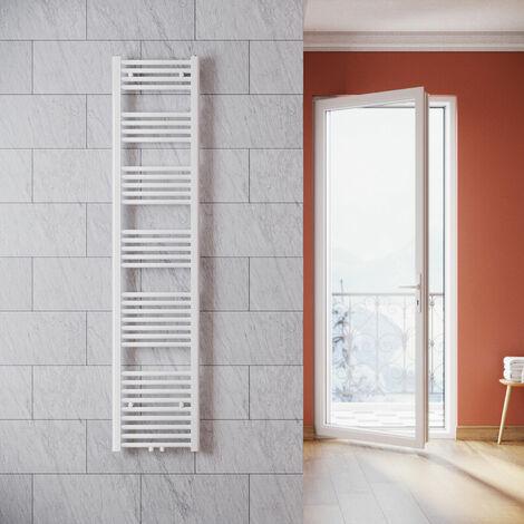 ELEGANT Heizkörper Bad 1800x400 mm Weiß Badheizkörper Mittelanschluss Handtuchwärmer Handtuchtrockner Heizkörper