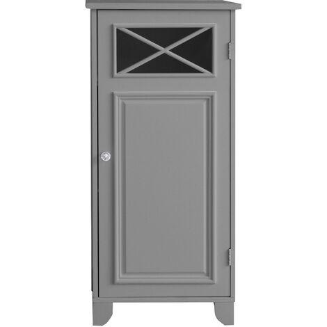 Elegant Home Fashions Bathroom Dawson Floor Cabinet With One Door Grey EHF-6834G