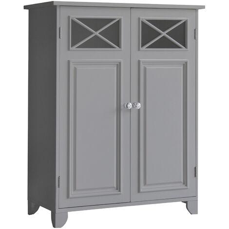 Elegant Home Fashions Bathroom Dawson Grey Wooden Free Standing Cabinet EHF-6841G