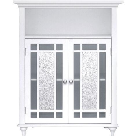 Elegant Home Fashions Bathroom Windsor Double Door Floor Cabinet White ELG-529