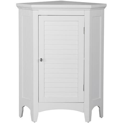 "main image of ""Elegant Home Fashions Mueble De Baño Esquina De Pared BlancocY Madera ELG-586"""