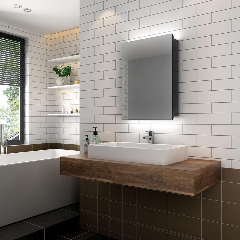 ELEGANT Illuminated Bathroom Mirror Cabinet with Lights ...