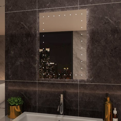 ELEGANT Illuminated LED 500 x 700 mm Bathroom Mirror with Light Button switch