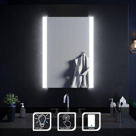 ELEGANT Illuminated LED Bathroom Mirror Light Touch Sensor