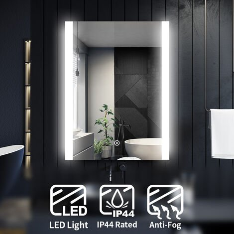 ELEGANT Illuminated LED Bathroom Mirror Light Touch Sensor