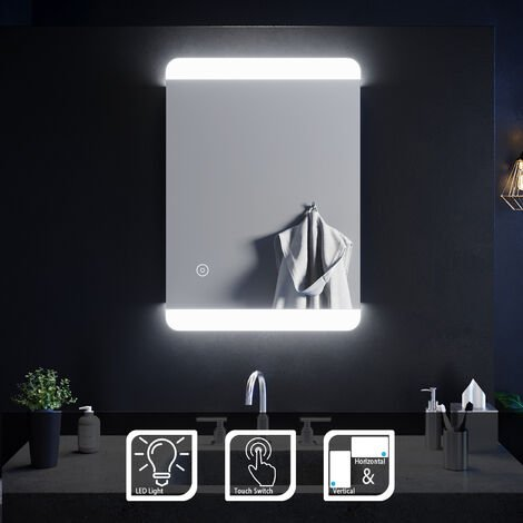 ELEGANT Illuminated LED Bathroom Mirror Sensor Switch