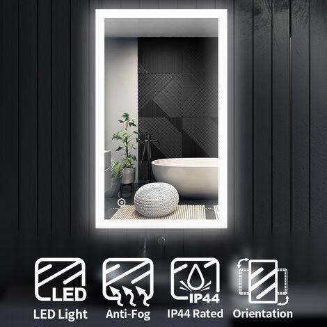 ELEGANT LED Illuminated Bathroom Mirror Light Touch Sensor