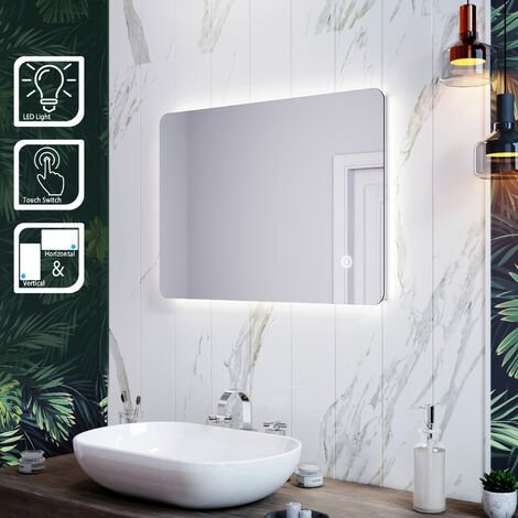 ELEGANT LED Illuminated Bathroom Mirror with Light